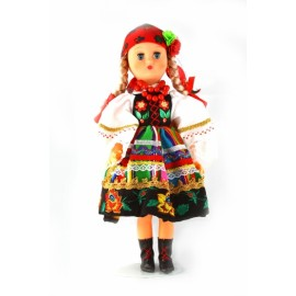 Doll in Lowicz folk dress 30 cm.