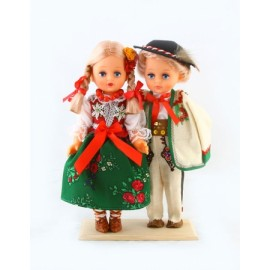 Dolls in Podhale folk outfits 30 cm